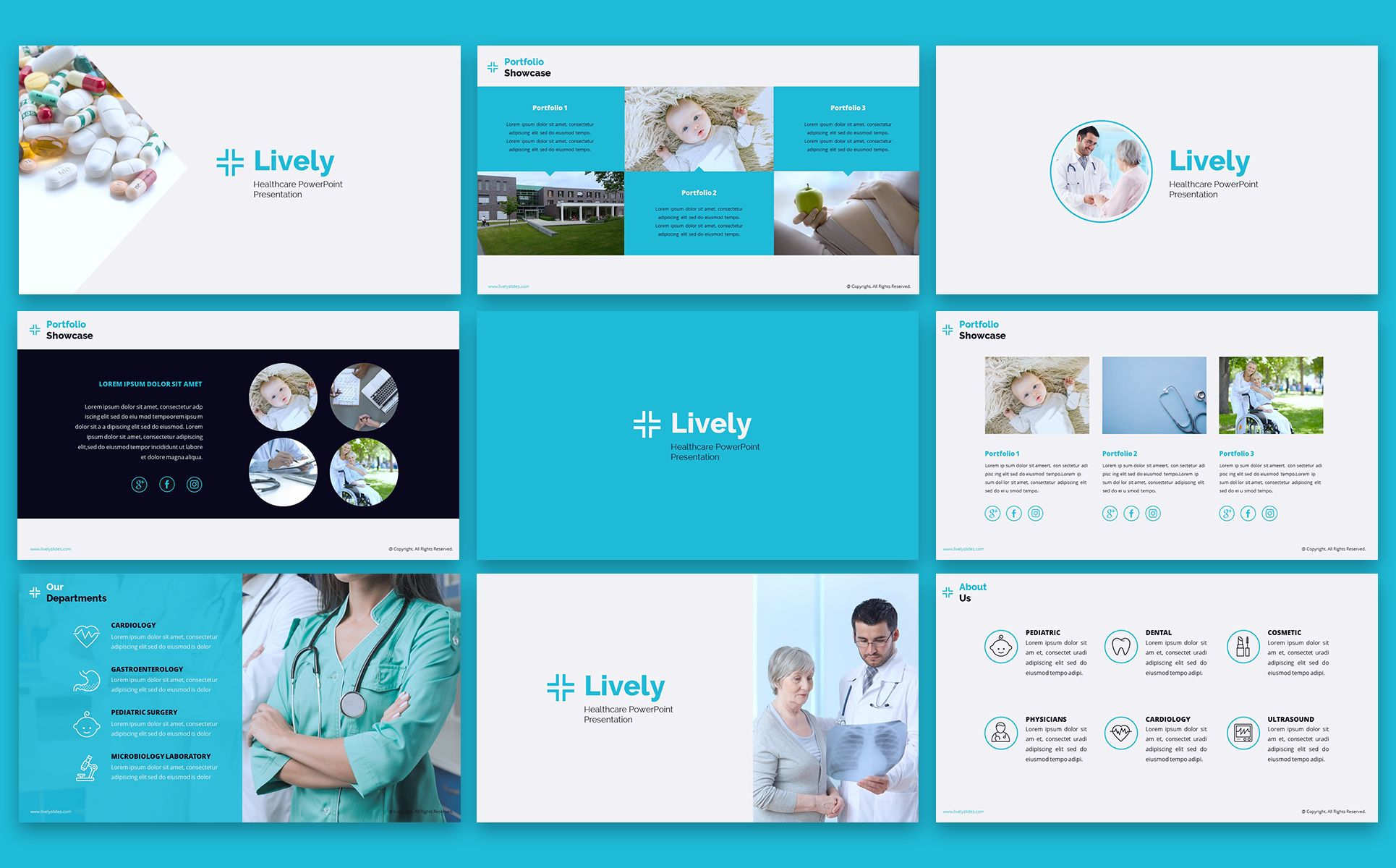Lively Healthcare Ppt Slides Powerpoint Template 66798 Powerpoint Templates Powerpoint Ppt