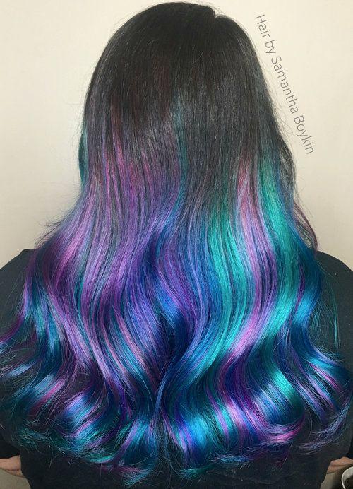 Rainbow Hair Colour Mermaid Hair Color Hair Inspiration Color Hair Styles