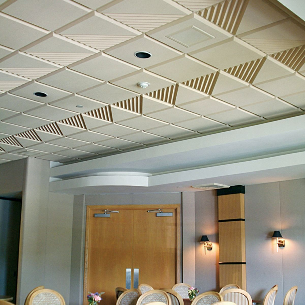 enhance ceiling blog aesthetics pinta clouds acoustic dero office acoustics breakroom ceilings