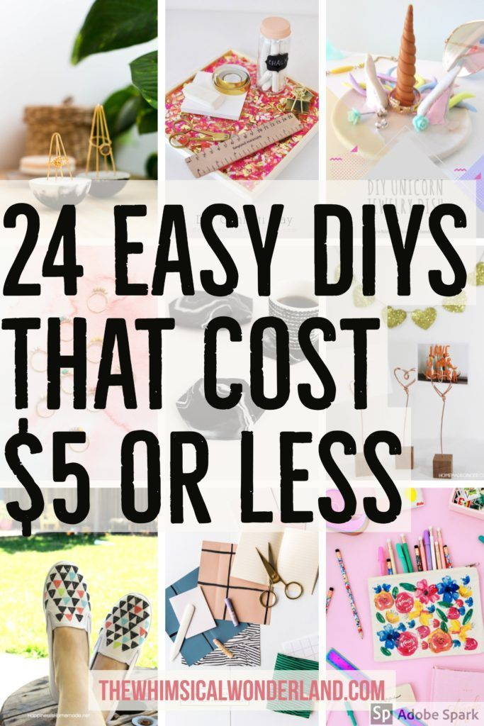 24 Easy DIYs That Cost 5 or Less Diy crafts to sell on
