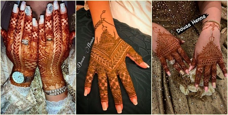 مجموعة نقوش حناء للعرائس Henna Hand Tattoo Hand Tattoos Hand Henna