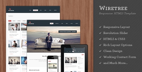 Google Website Templates Wiretree  Responsive Html5 Template  Template Pricing Table And