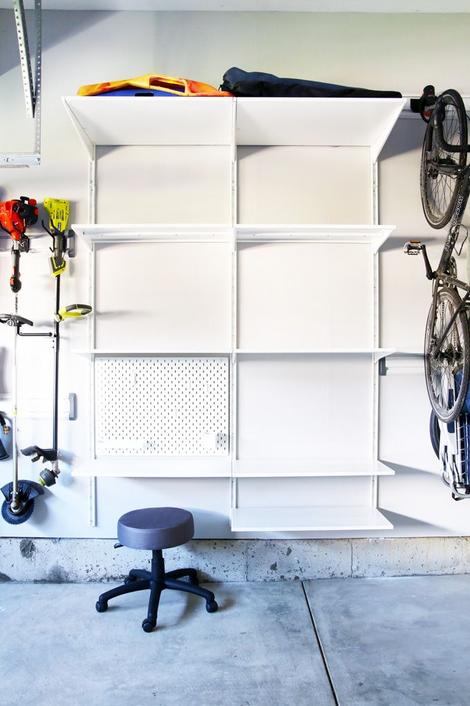How to Organize a Messy Garage | Ikea algot, Garage ...