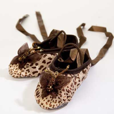 Butterfly Organza Leopard Ballet Slippers from The Couture Baby