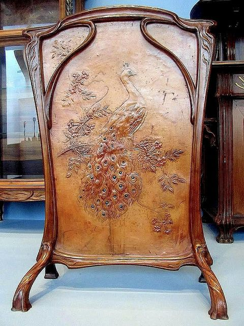 Fire Screen, attributed to Emile Gallé , circa 1900 | Muebles ...