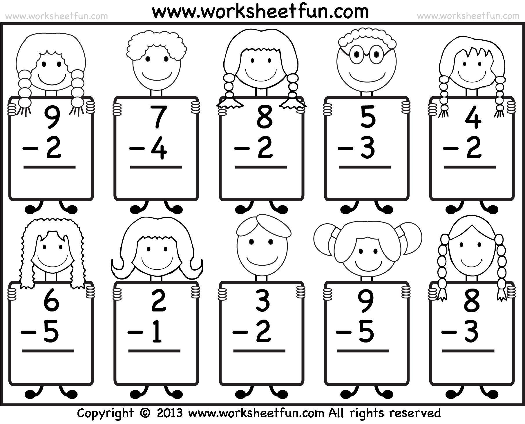 51 Math Worksheet Subtraction Matematika Kelas Satu Kelas Satu Pendidikan