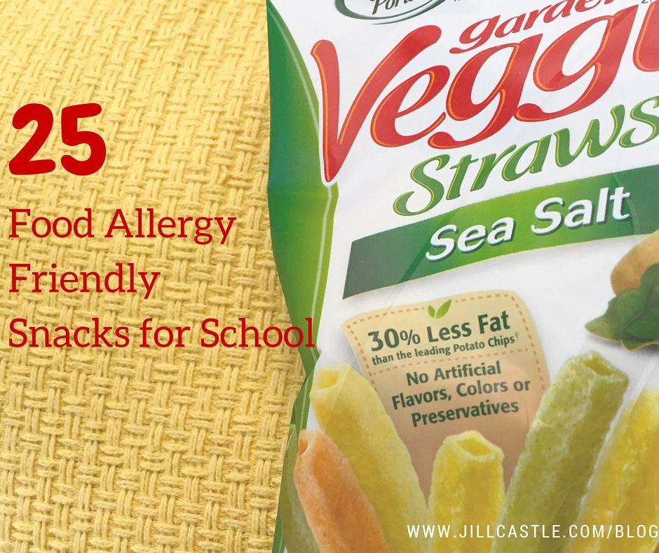 Do you have safe snacks for your child at school? I've got 25 food allergy safe snacks for school here.