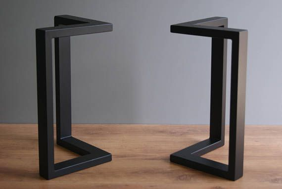 L Shape Steel Bench Legs Coffee Table Legs Bench Base Coffee Table Base Set Of 2 Table A Manger Bois Et Metal Table Salle A Manger Table A Manger Moderne