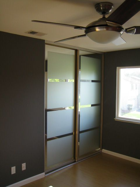 Mirrored Closet Doors The 25 Makeover Window Film Frostings