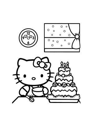 Hello Kitty Coloriage