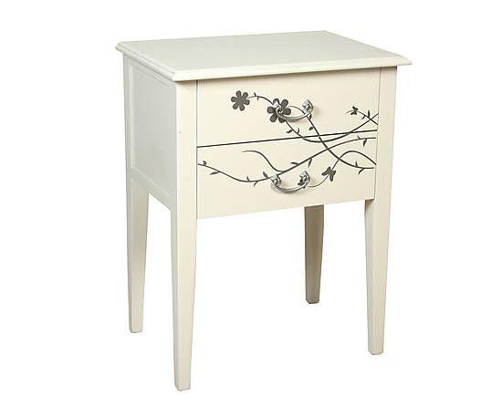 Mesita de noche de madera con 2 cajones blanco muebles - Reparacion muebles ...