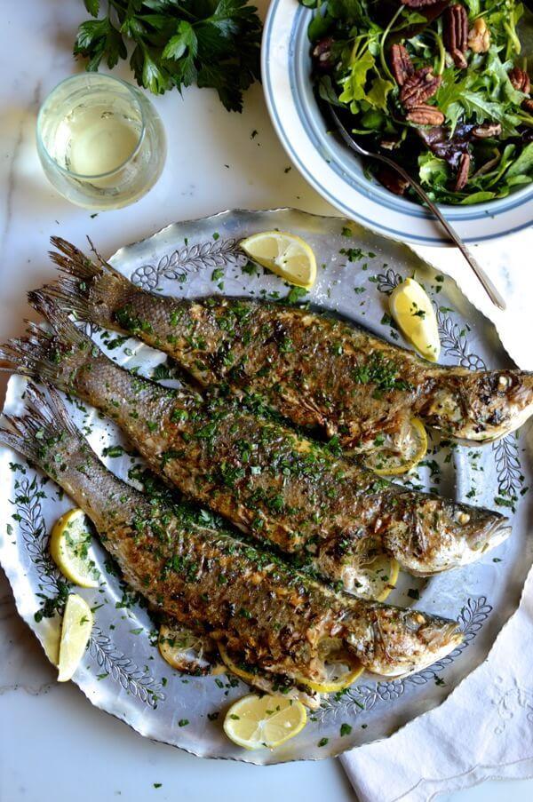 Lemon soy roasted branzino recipe fish dishes sea for What is branzino fish