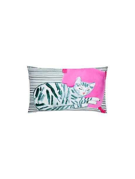 Silk Cat Nap Decorative Pillow Kate Spade New York XBedroom Stunning Kate Spade Decorative Pillows