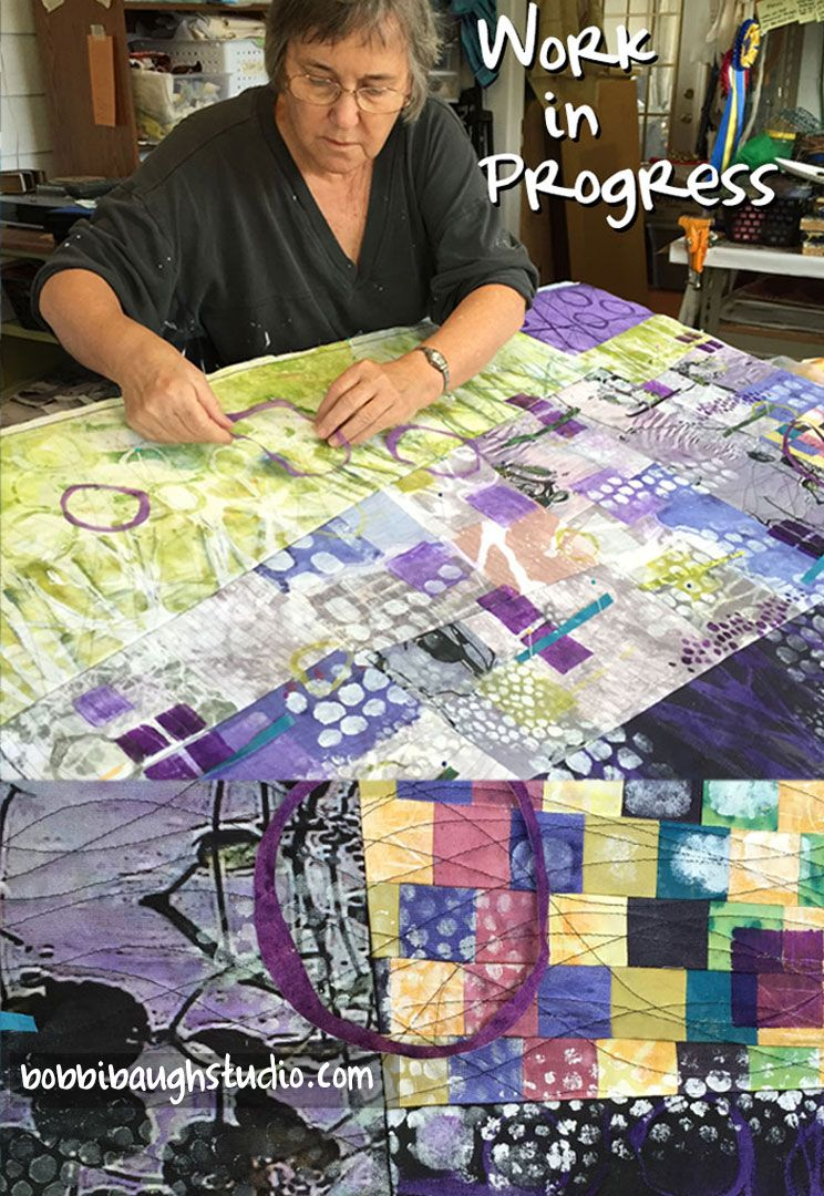 Art quilt in progress this is a different subject matter