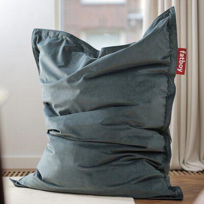 Grijze Fatboy Zitzak.Fatboy Original Slim Velvet Bean Bag Chair Upholstery Color