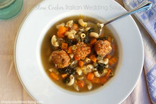 Easy Slow Cooker Italian Wedding Soup Simple Hearty And Delicious 224 Calories