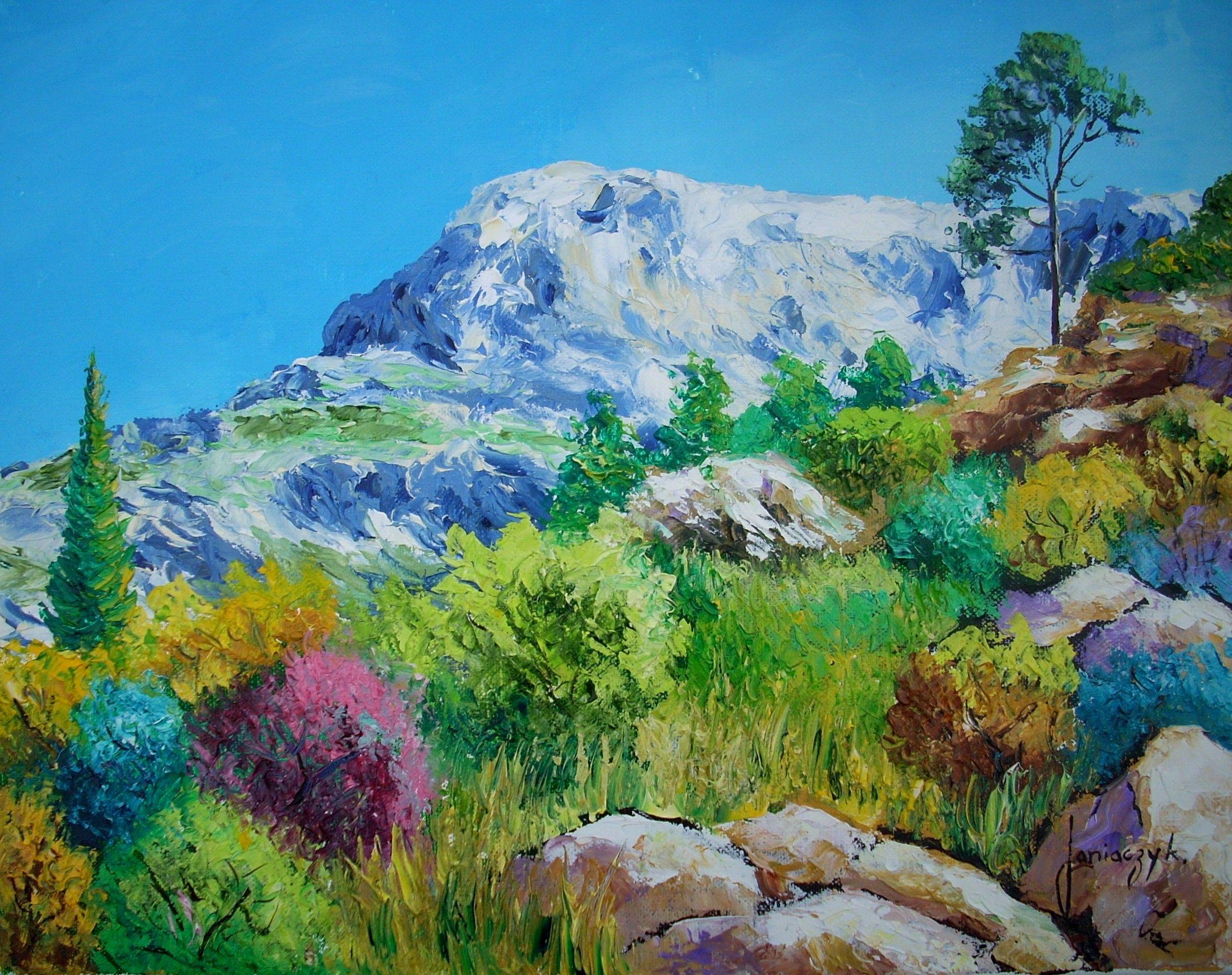 La Montagne Sainte Victoire Peinture A L Huile Au Couteau De Jean