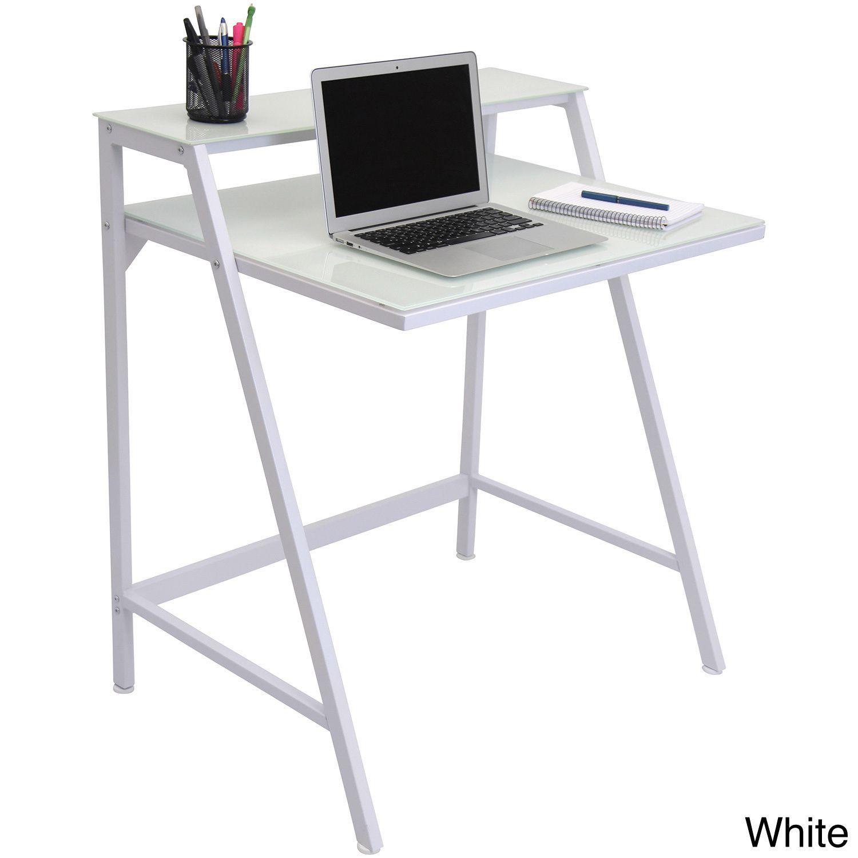 2 tier modern computer desk workstation products pinterest rh pinterest com au