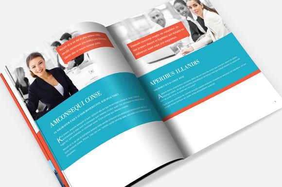 Corporate Brochure Template by Templatepickup on Creative Market - free annual report templates