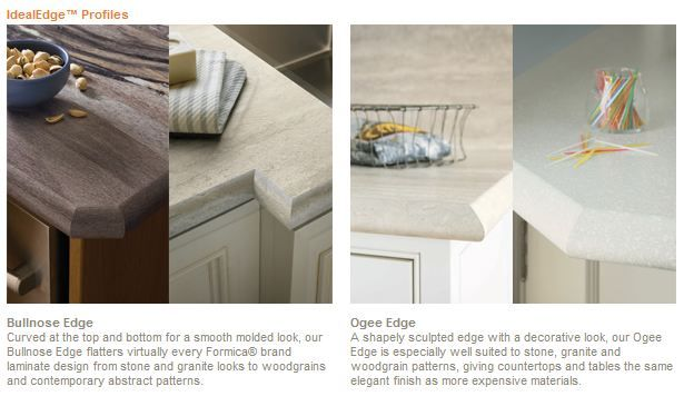 Only Your Contractor Knows For Sure Formica Ideal Edge Mimics Expensive Stone Solid Surface Countertops With Laminate Retro Renovation