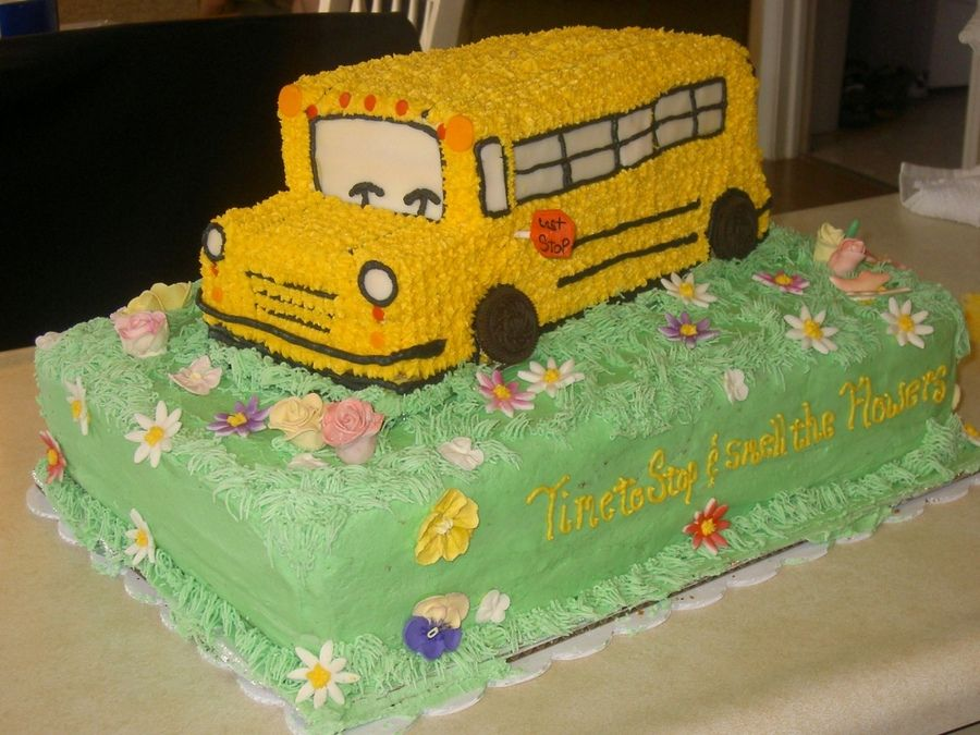 For A Retiring School Bus Driver My Biggest Cake To Date Used A 10