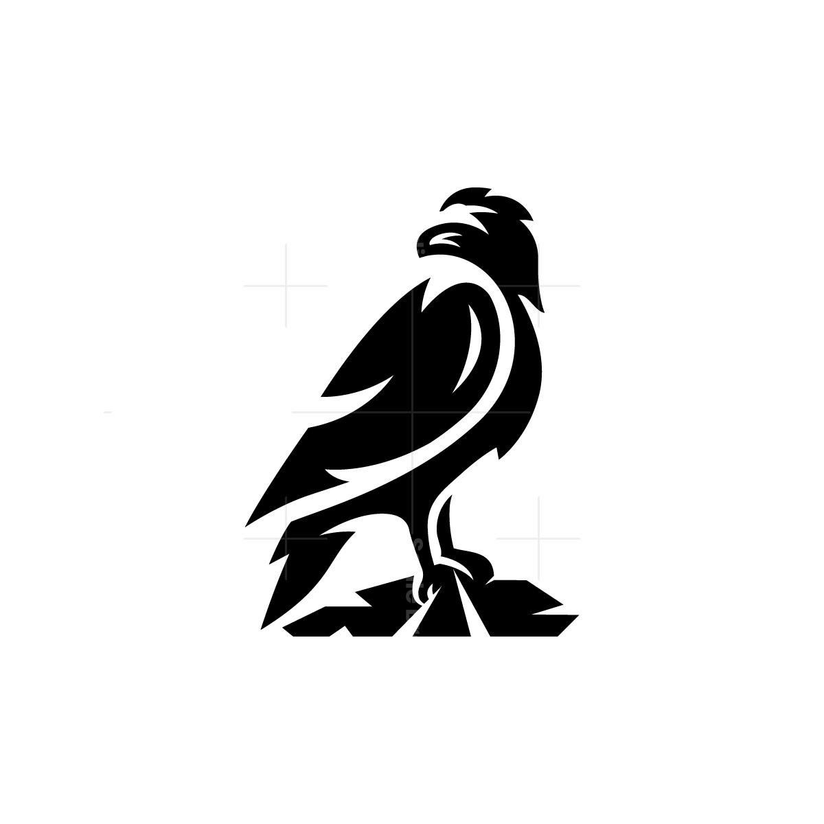 Proud Falcon Logo Falcon Logo Animal Logo Colorful Backgrounds