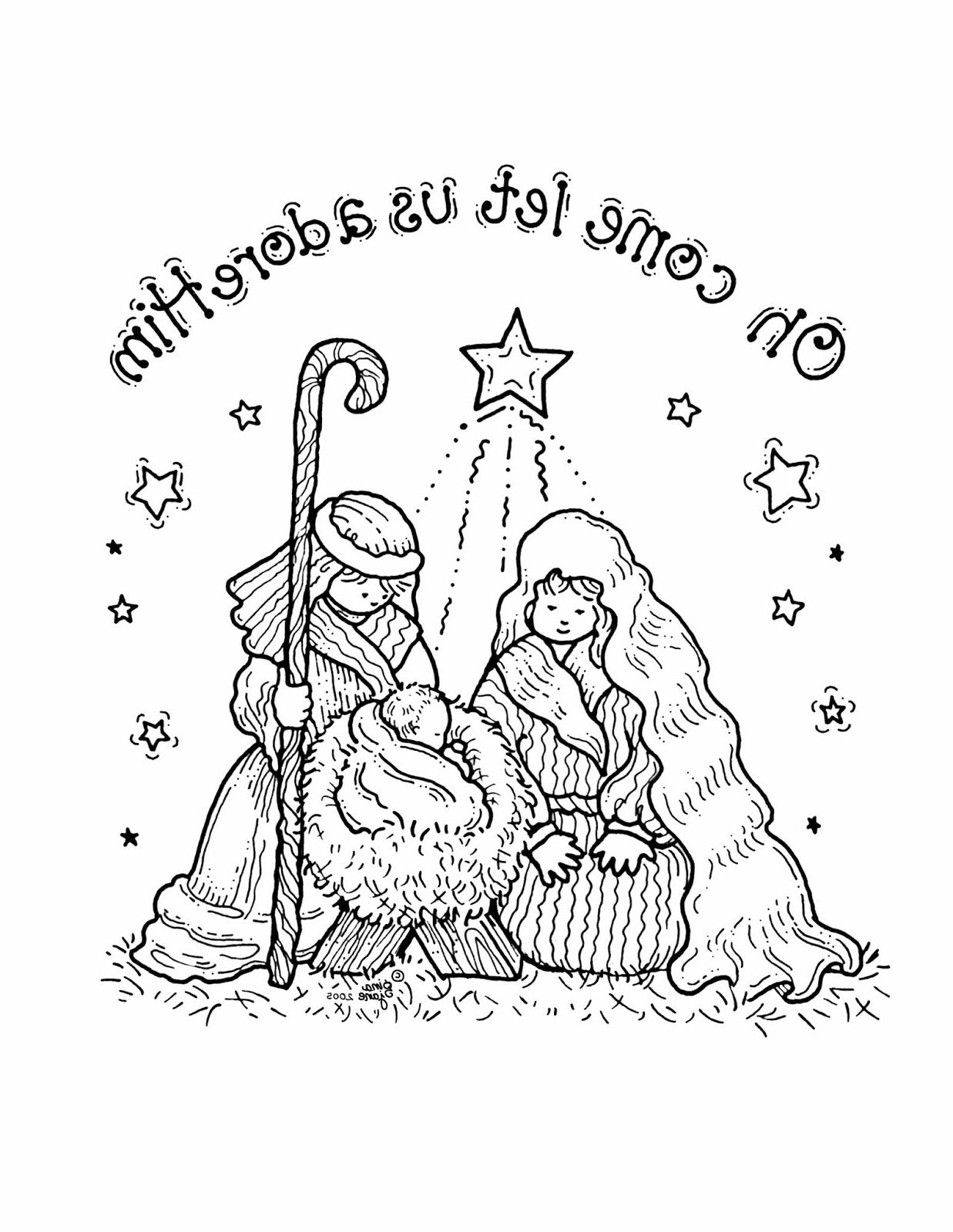 Nativity Coloring Pages Free Printable Nativity coloring