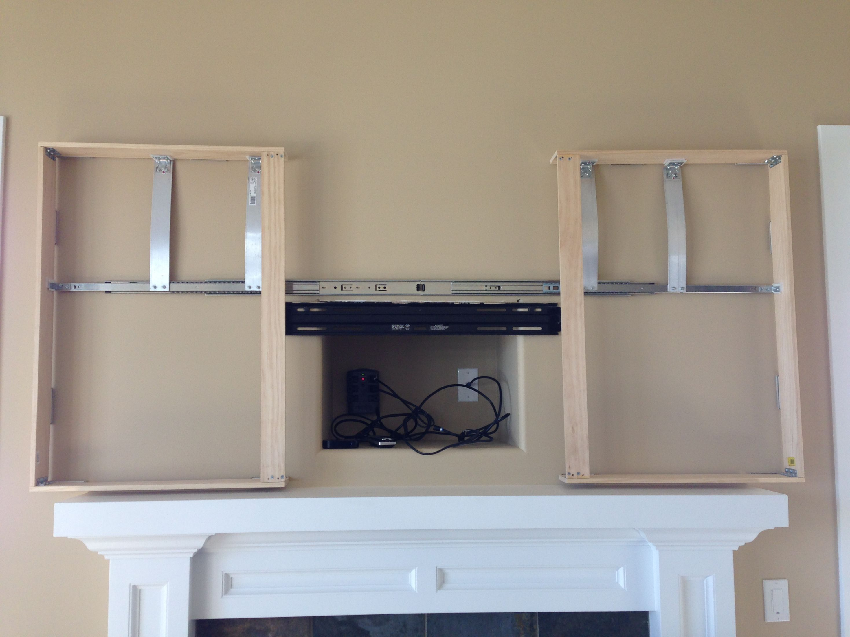Hide A Tv With Some Artwork Living Room Tv Wall Living Room Tv Living Room Remodel