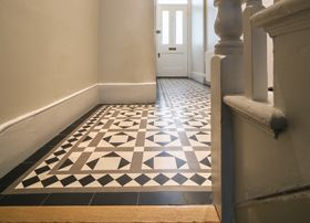 Beautiful English Bathrooms neil & jackie used 'olde english' tiles in the bathrooms and