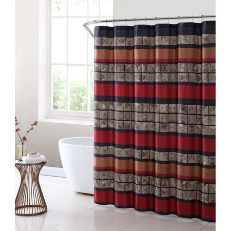 mainstays preston geometric stripe fabric shower curtain beige in rh pinterest com