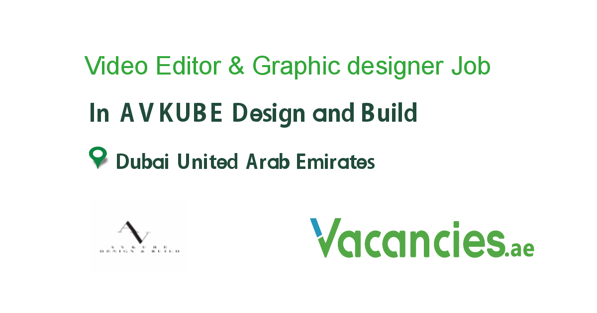 Video Editor Graphic Designer In 2020 Marketing Jobs Customer Service Marketing Job