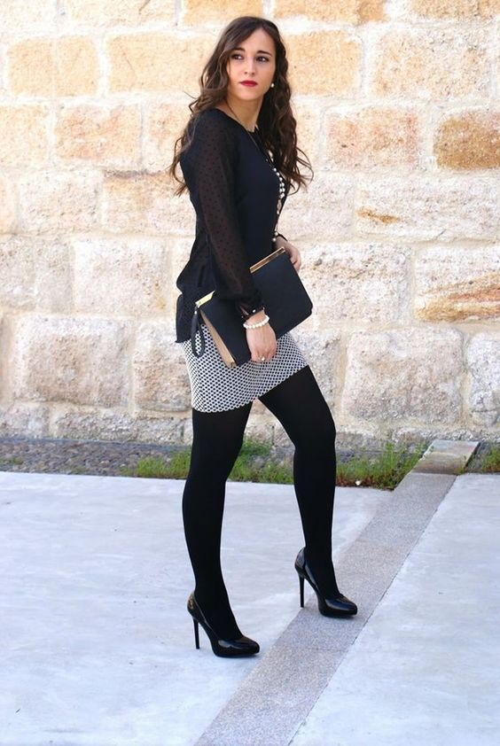 Pantyhose with an outfit foto