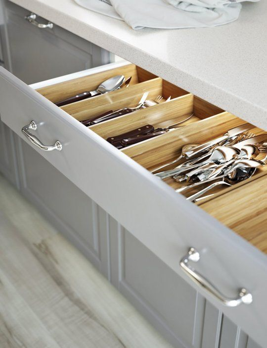 ikea new variera indrawer organizers in glossy plastic or bamboo make