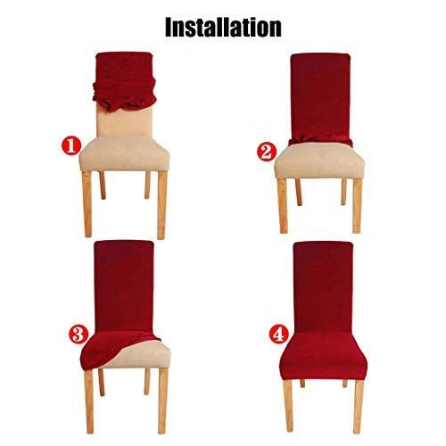 uxcell stretch spandex short dining chair covers slipcovers parson rh pinterest ca