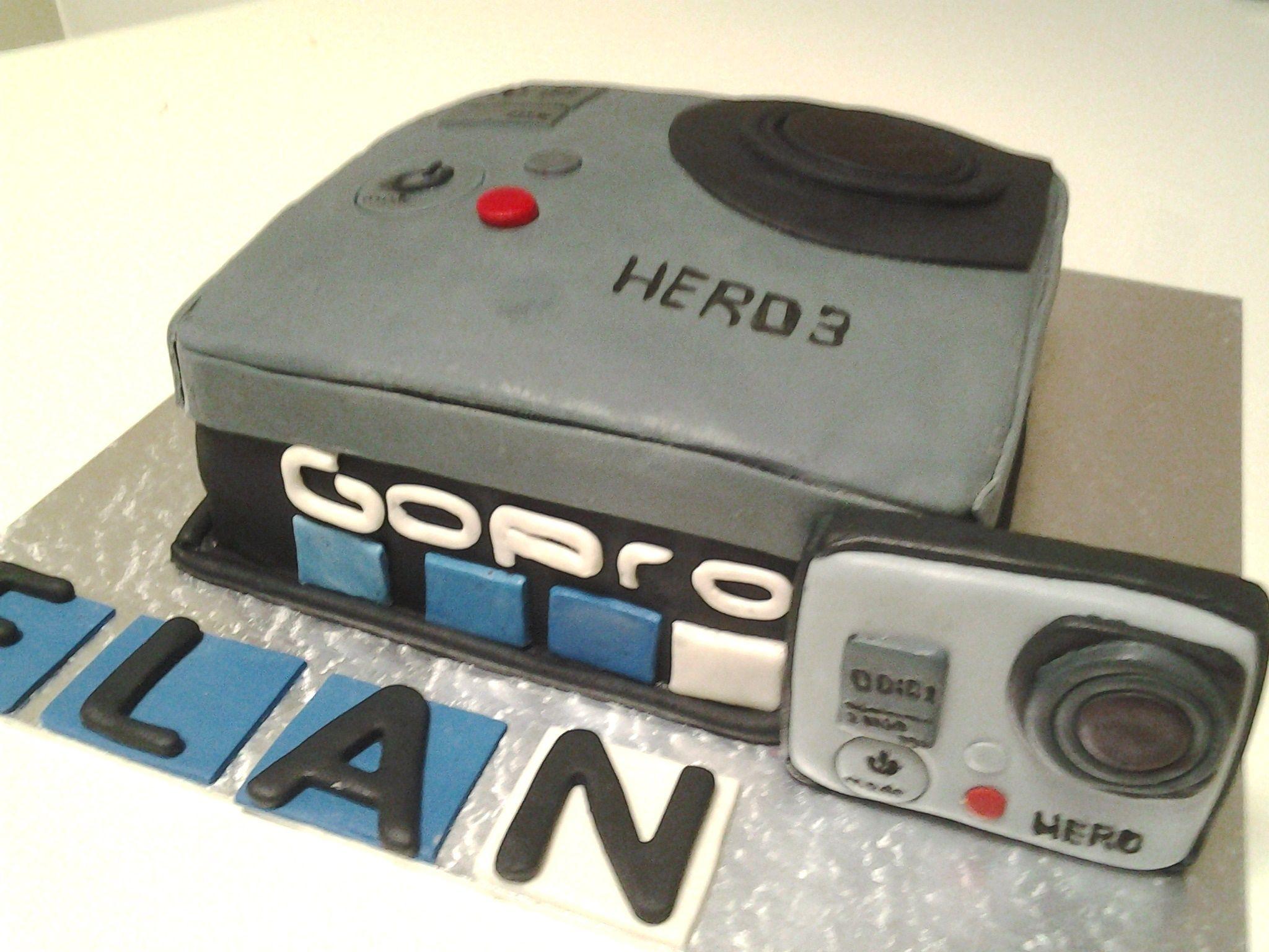 Gopro camera cake   Ma Baker   Pinterest   Camera cakes, Cake and ...