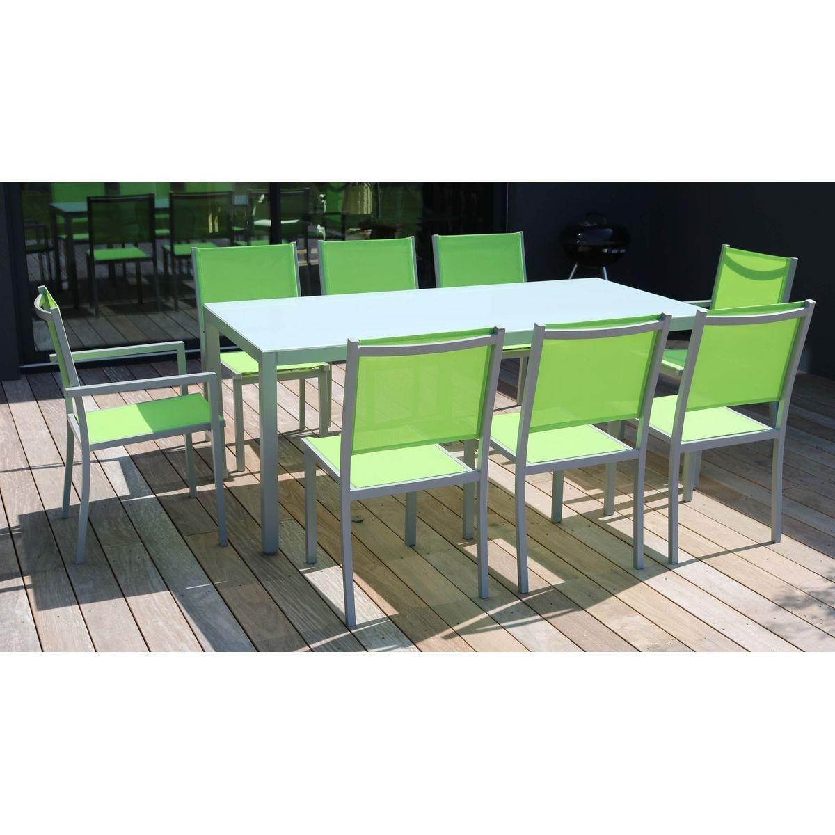 Table De Jardin En Aluminium Et Verre 8 Places, Ajaccio ...