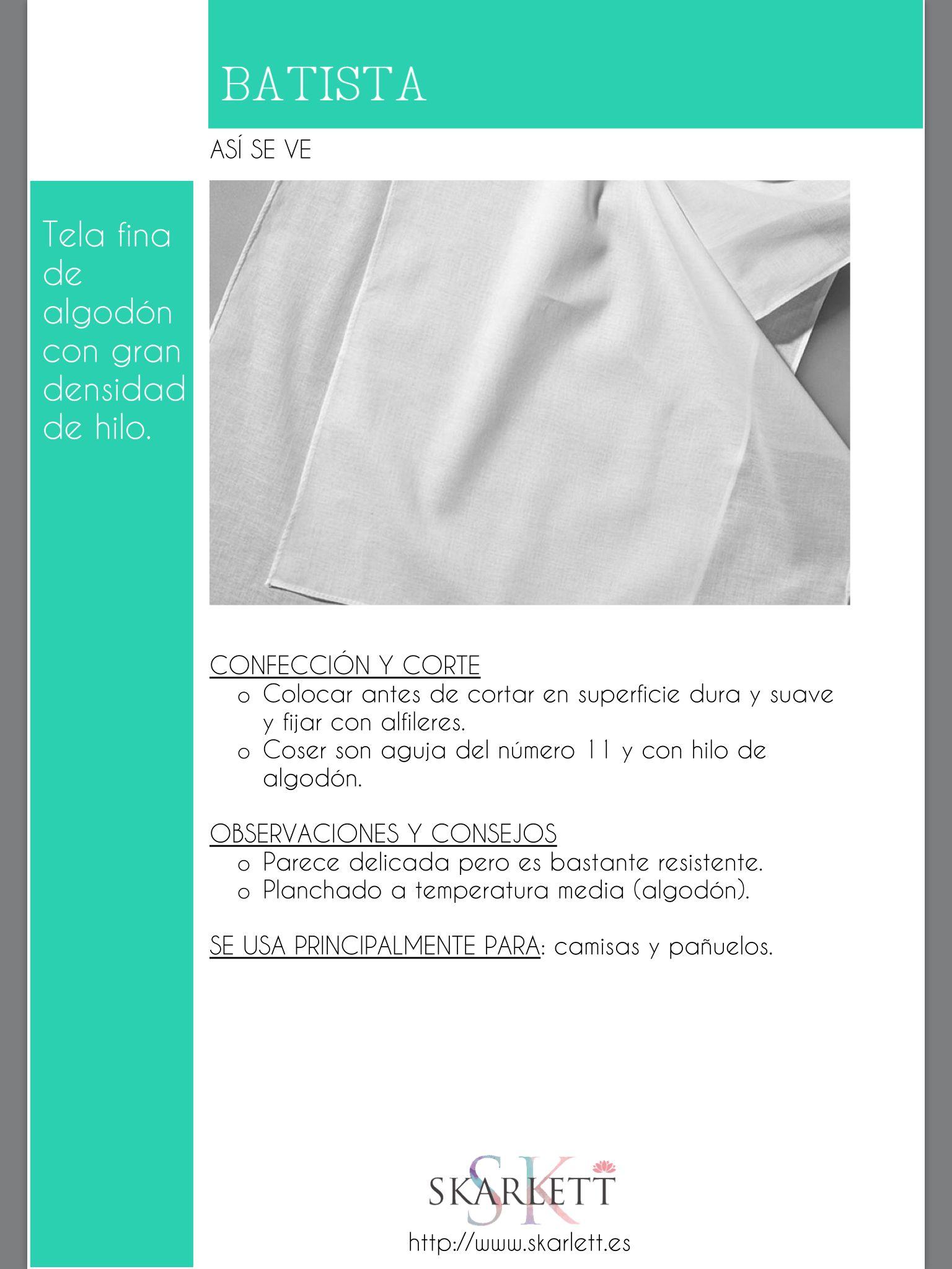El dossier de las telas Skarlett | Textile Material | Pinterest ...