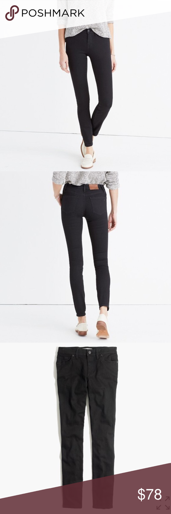 "🎀NEW🎀MADEWELL 8"" Skinny Skinny in Blackfrost 🎀NEW🎀MADEWELL 8"" Skinny Jeans in Blackfrost. ❌no trading or holding✅REASONABLE OFFERS ACCEPTED✅ Madewell Jeans Skinny"