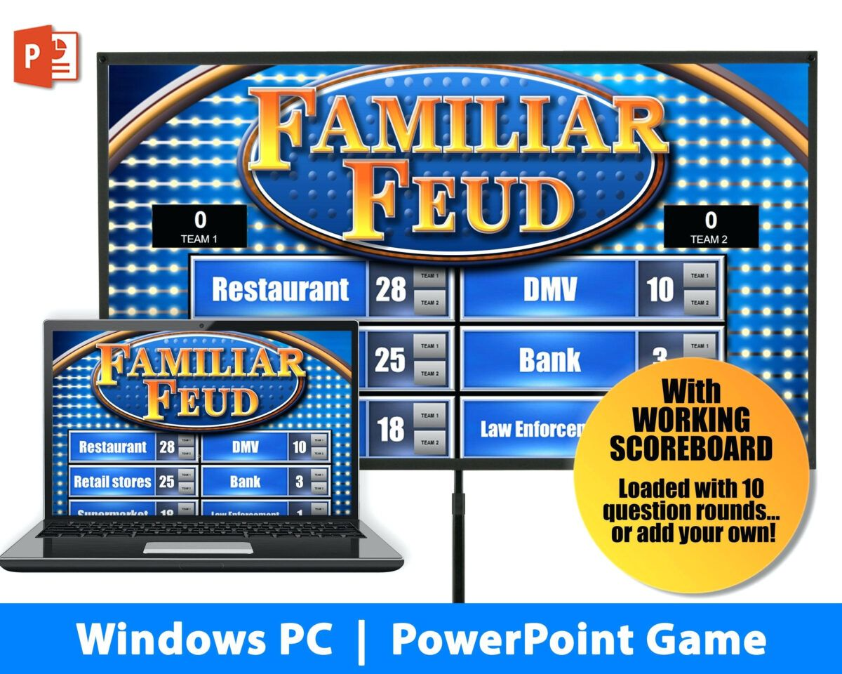 Make Your Own Family Feud Game With These Free Templates Family Feud Template Family Feud Game Family Feud