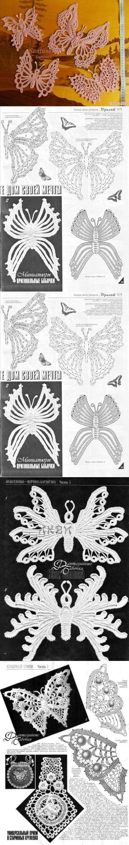 вязание крючком | Schmetterlinge, Häkeln und Schmetterling häkeln