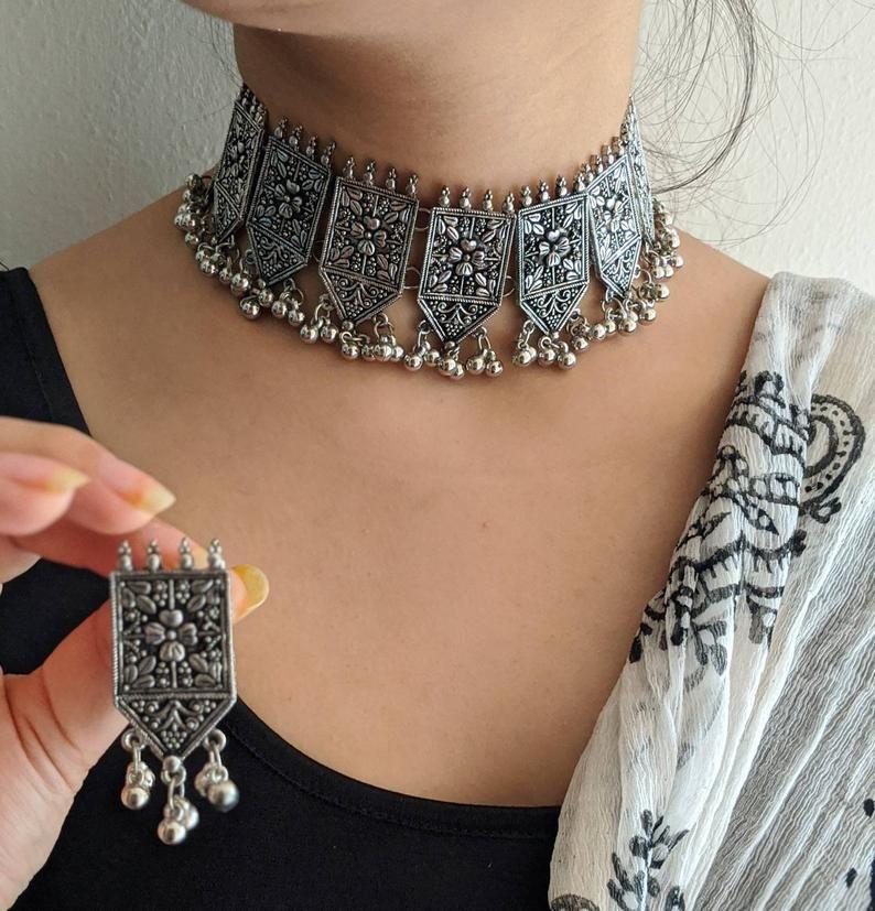 Choker set, handmade jewelry,indian Jewelery,ethni