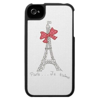 Paris...Je t\'aime Iphone 4 Cases by Girly Template   Cases for ...