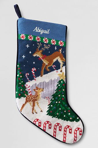 Lands End Christmas Stockings.Needlepoint Christmas Stocking From Lands End Stockings