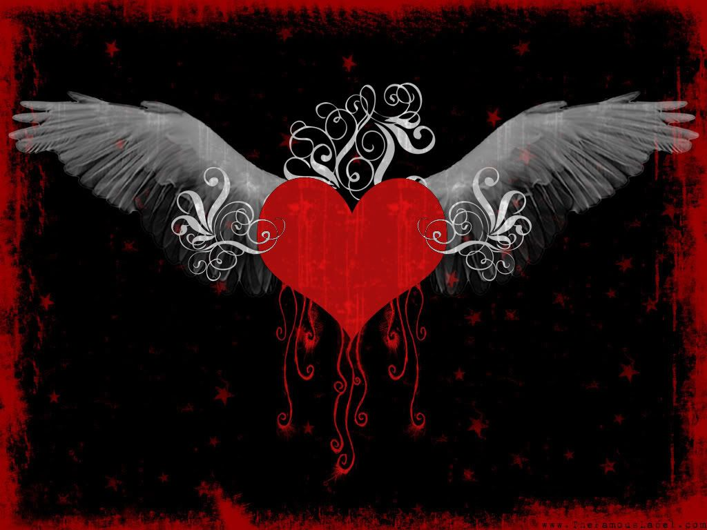 Http I530 Photobucket Com Albums Dd347 Thatoneemofreak Emo Heart Wings Jpg Heart With Wings Emo Wallpaper Heart Wallpaper