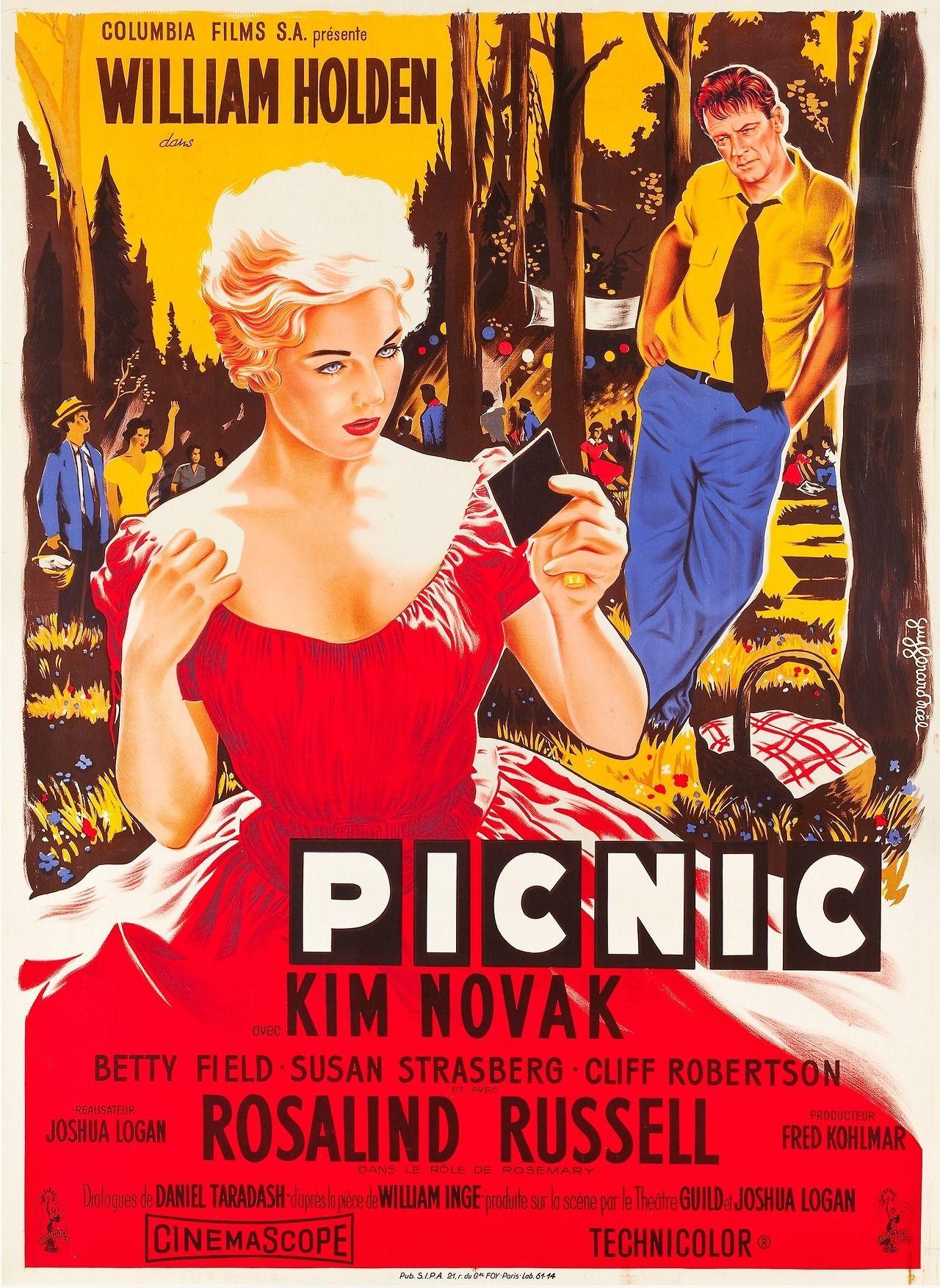 PICNIC Movie POSTER 27x40 C William Holden Kim Novak Rosalind Russell Susan