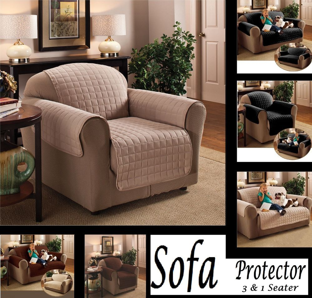 Quilted Pet Sofa Arm Protector Chair Furniture Throw Slip Cover ...