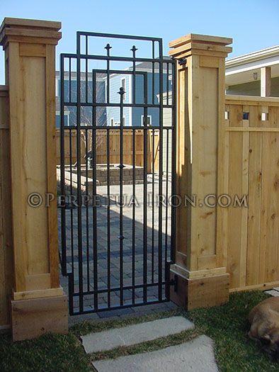 wrought iron patio entrance gate custom designed to complement rh pinterest com