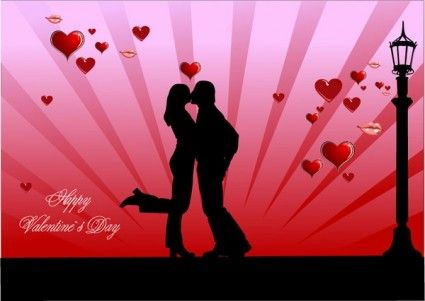 Valentine\'s Day Couples | ... vector >> Vector Silhouettes ...