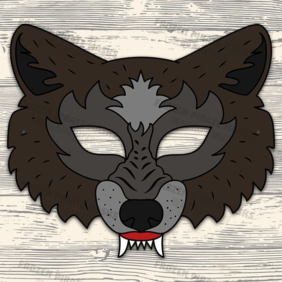 photograph relating to Printable Wolf Mask Template for Kids titled The 3 Very little Pigs Printable Masks, Significant Negative Wolf 3