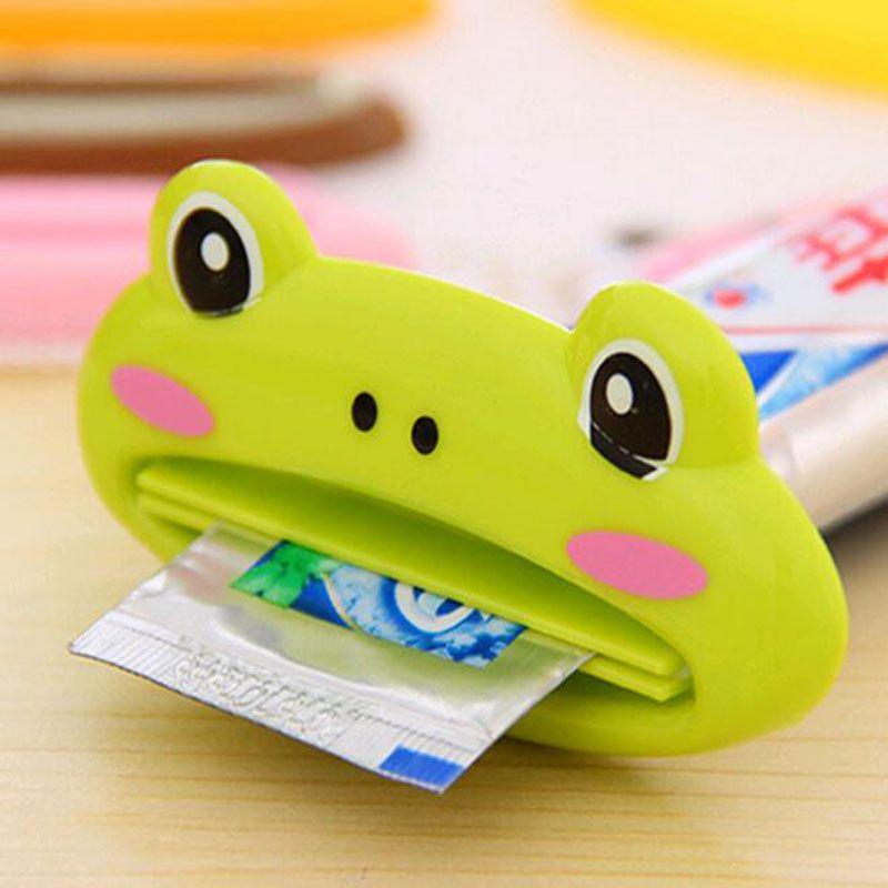 Plastic Toothpaste Tube Squeezer Easy Dispenser Rolling Holder Bathroom Cartoon